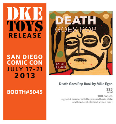 San Diego Comic-Con 2013 Exclusive Death Goes Pop Book by Mike Egan