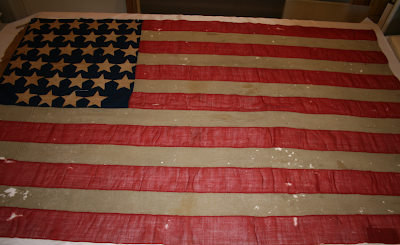 Expert Flag conservation, historic flags, repair, framing and mounting, Spicer Art Conservation