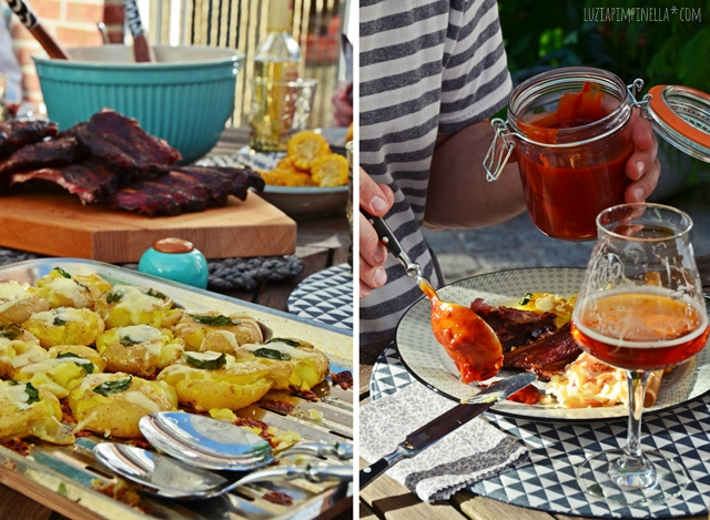 BBQ & grill love | rezepte für smoker spareribs, amerikanischen krautsalat  & grill-kartoffeln | recipes for smoked ribs, cole slaw & smashed potatoes | luzia pimpinella