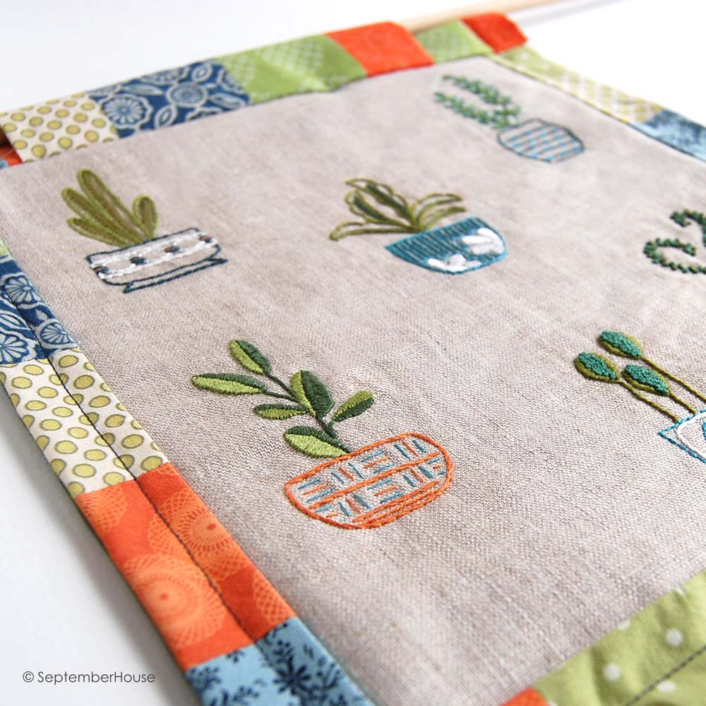 Hand Embroidery Designs Happy Houseplants from SeptemberHouse