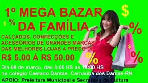 MEGA BAZAR DIA 08 DE MARÇO
