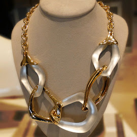 Alexis Bittar Kinshasa Link Necklace.