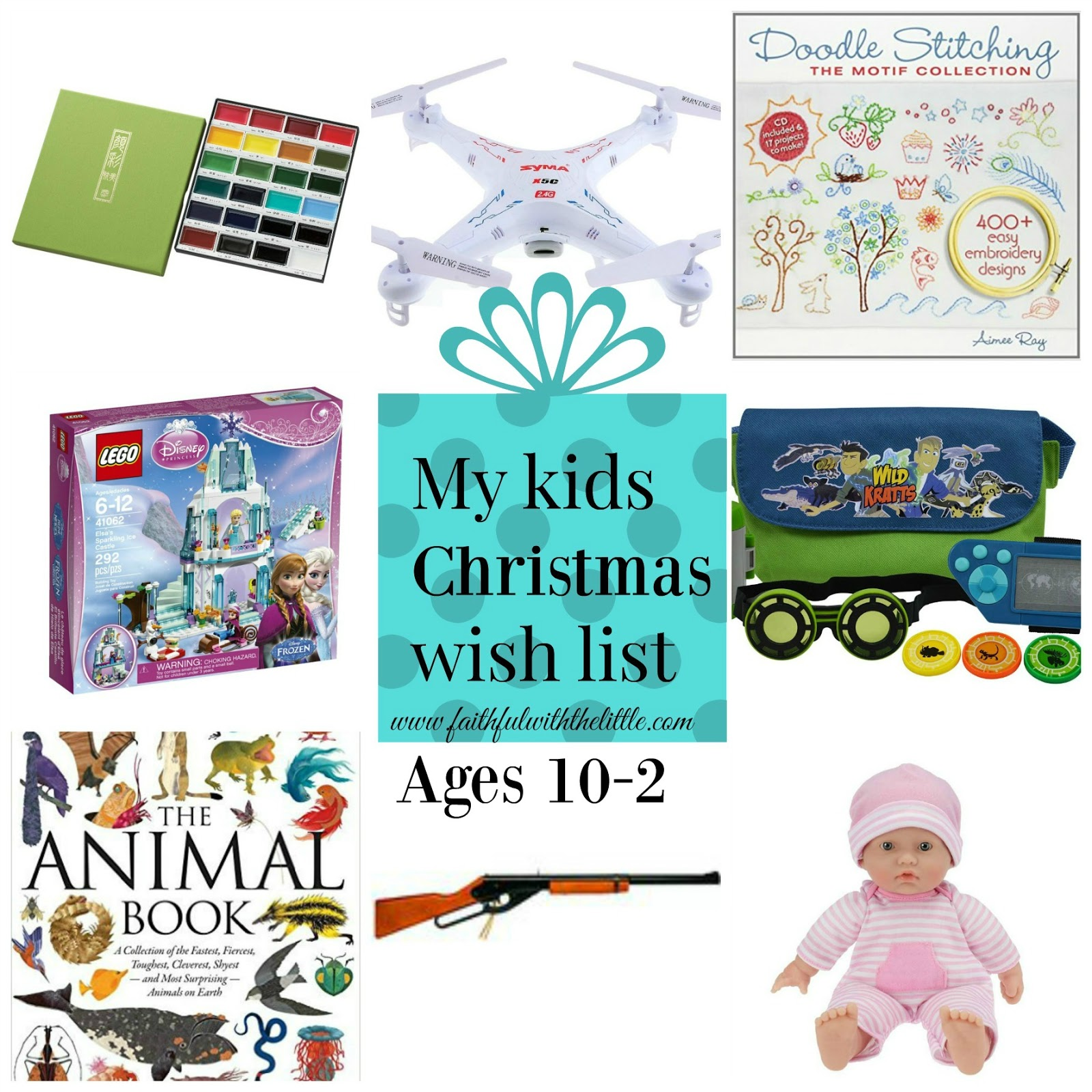 faithful with the little: My Kids Christmas Wish List
