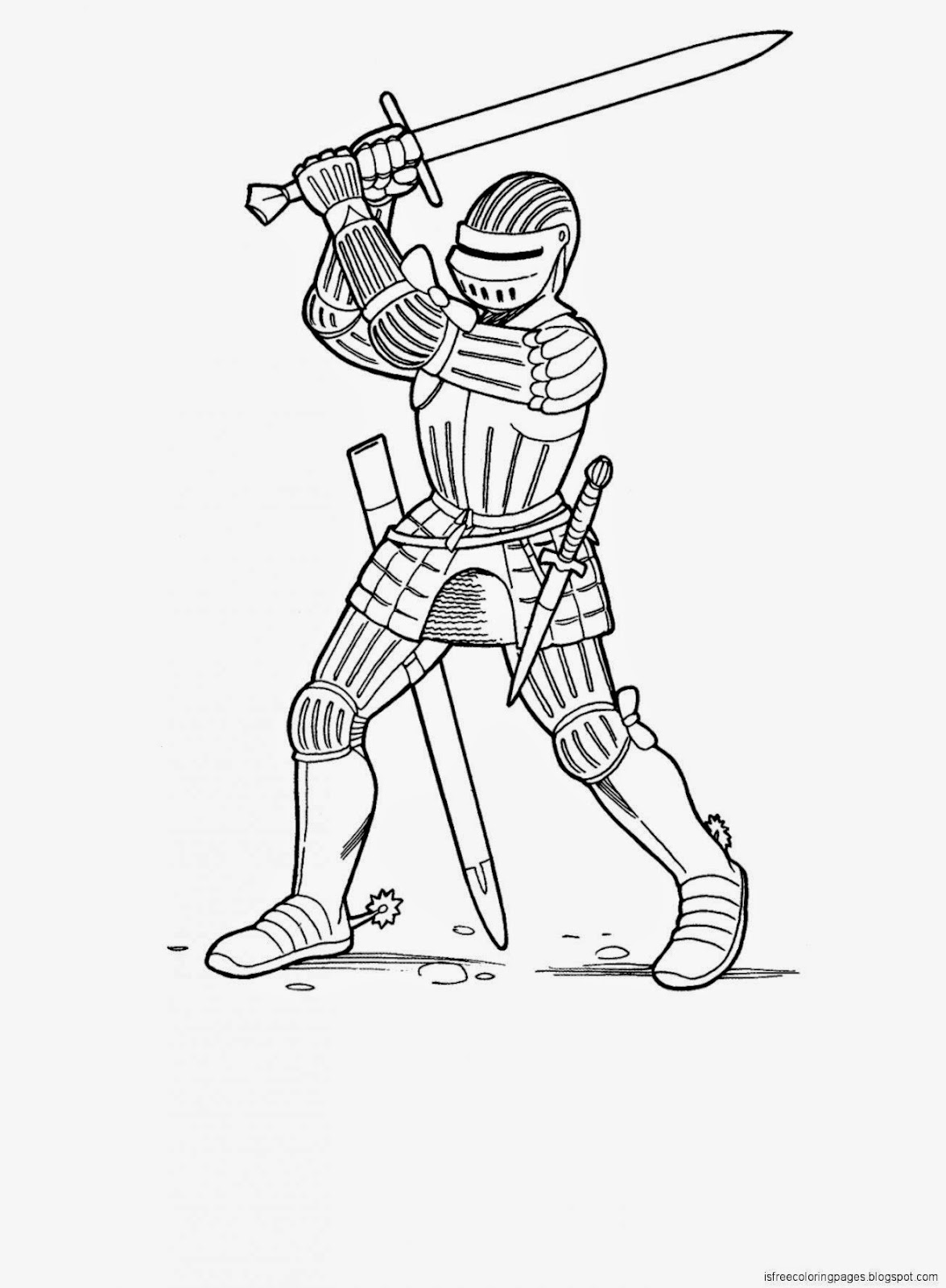 view original size - Knight Coloring Pages