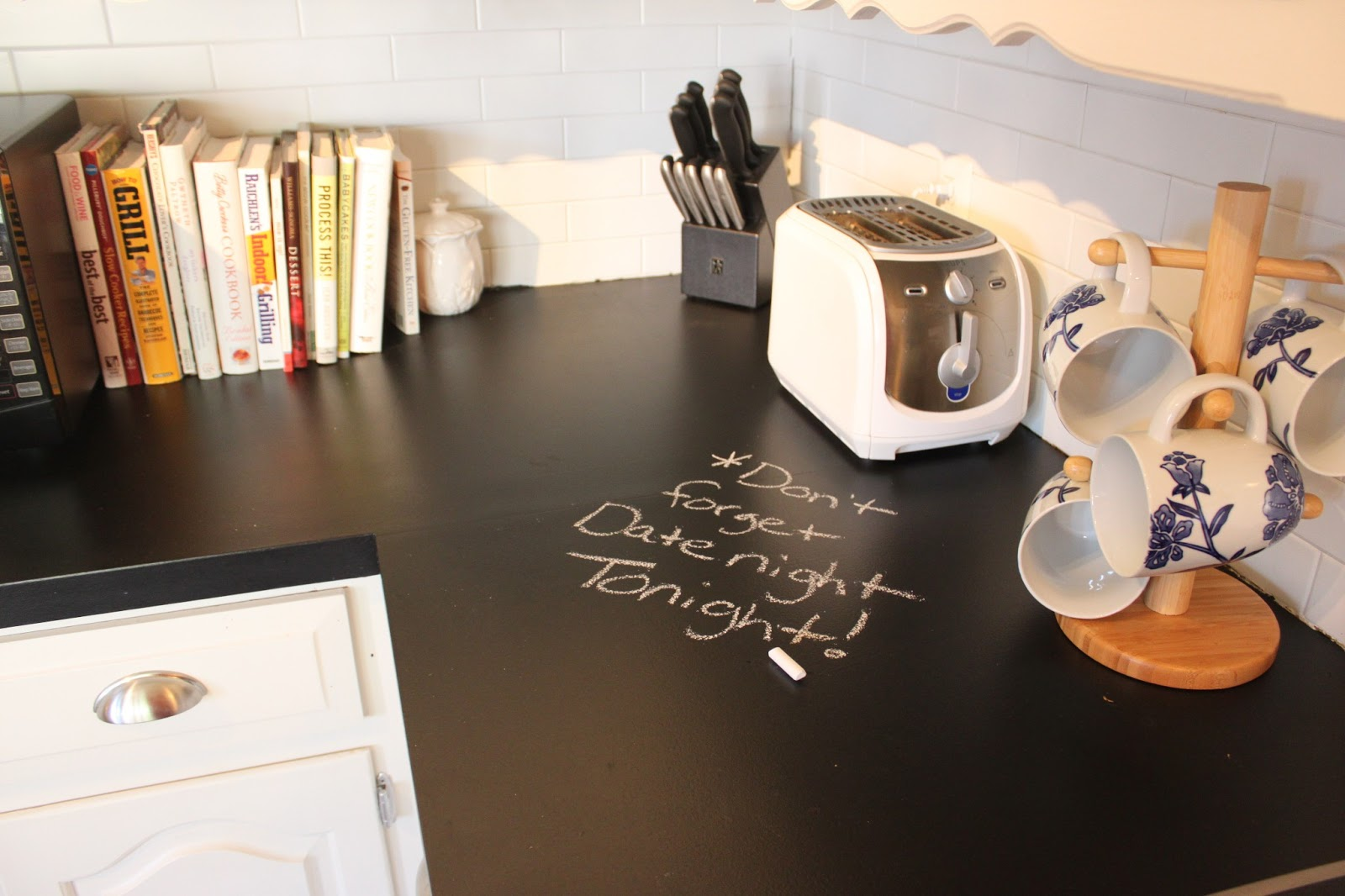 march orchard chalkboard countertops update. Black Bedroom Furniture Sets. Home Design Ideas