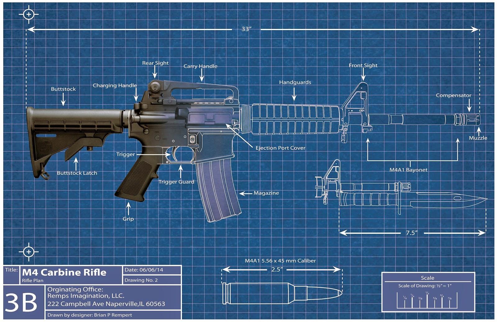 Artwork by remps imagination m4 carbine blueprint for How to make a blueprint online