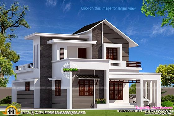 House Plans Less Than 1500 Square Feet Modern Two Storied House Exterior Kerala Home Design And