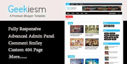 Geekiesm Premium Responsive Blogger Template-bwtemplate