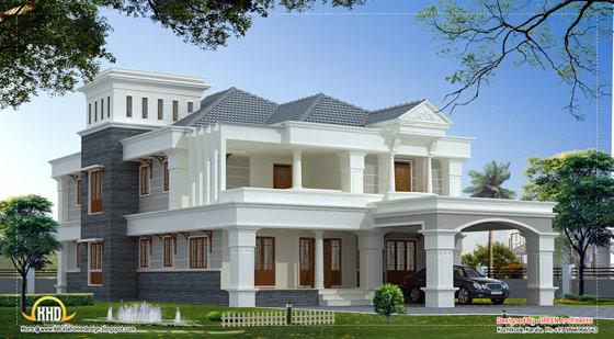 3700 sq ft luxury villa design indian home decor for Luxury villa plan