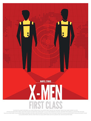 Marvel Movie Poster Series by DaveWill - X-Men: First Class Print