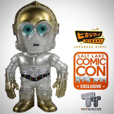 "Salt Lake Comic Con Exclusive 2015 Star Wars ""Gold Fade"" C-3PO Hikari Sofubi Vinyl Figures by Funko & Toy Tokyo"