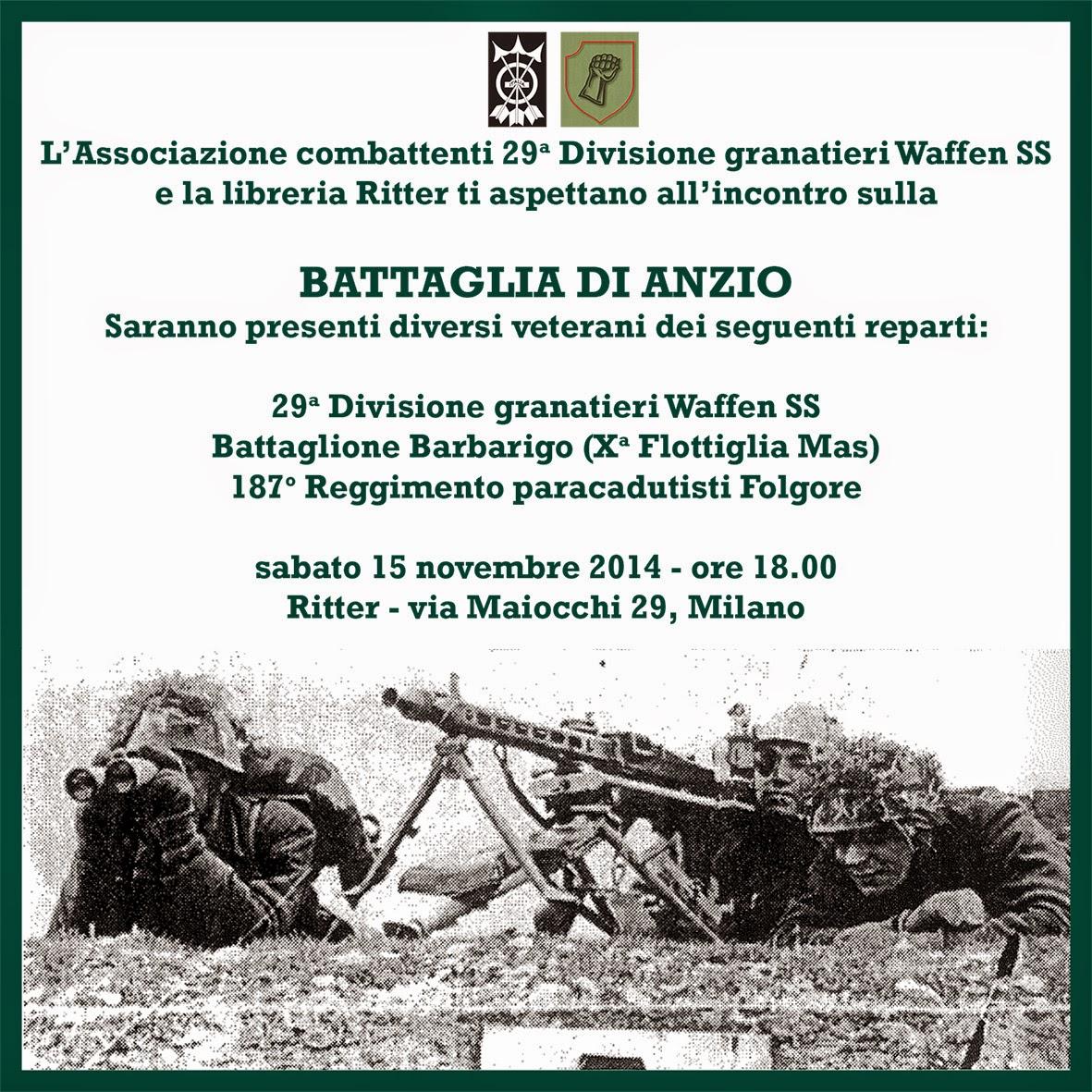 U n c r s i milano la battaglia di anzio ricordata for Battaglia di milano