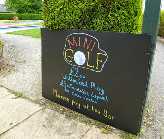 The cost to play the Tea Green Mini Golf course is just £2 and gives you unlimited play on your visit. Great value