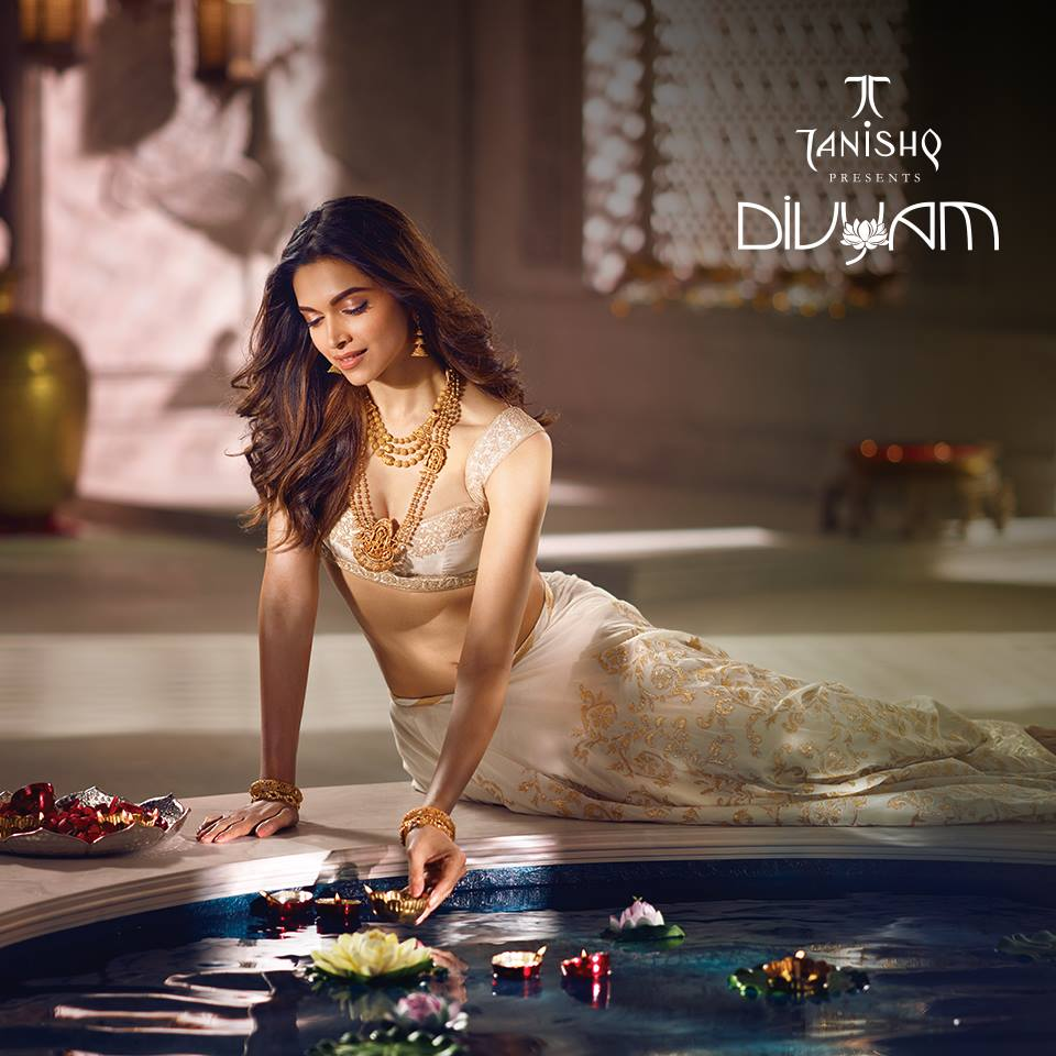 Deepika padukone photoshoot for tanishq leading indian for Deepika padukone new photoshoot for tanishq jewelry divyam collection
