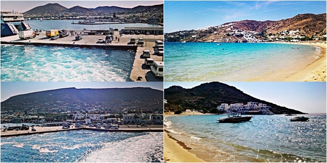 Instagram @lelazivanovic Ios Greece. Paros port. Mylopotas beach. Milopotas paralia.