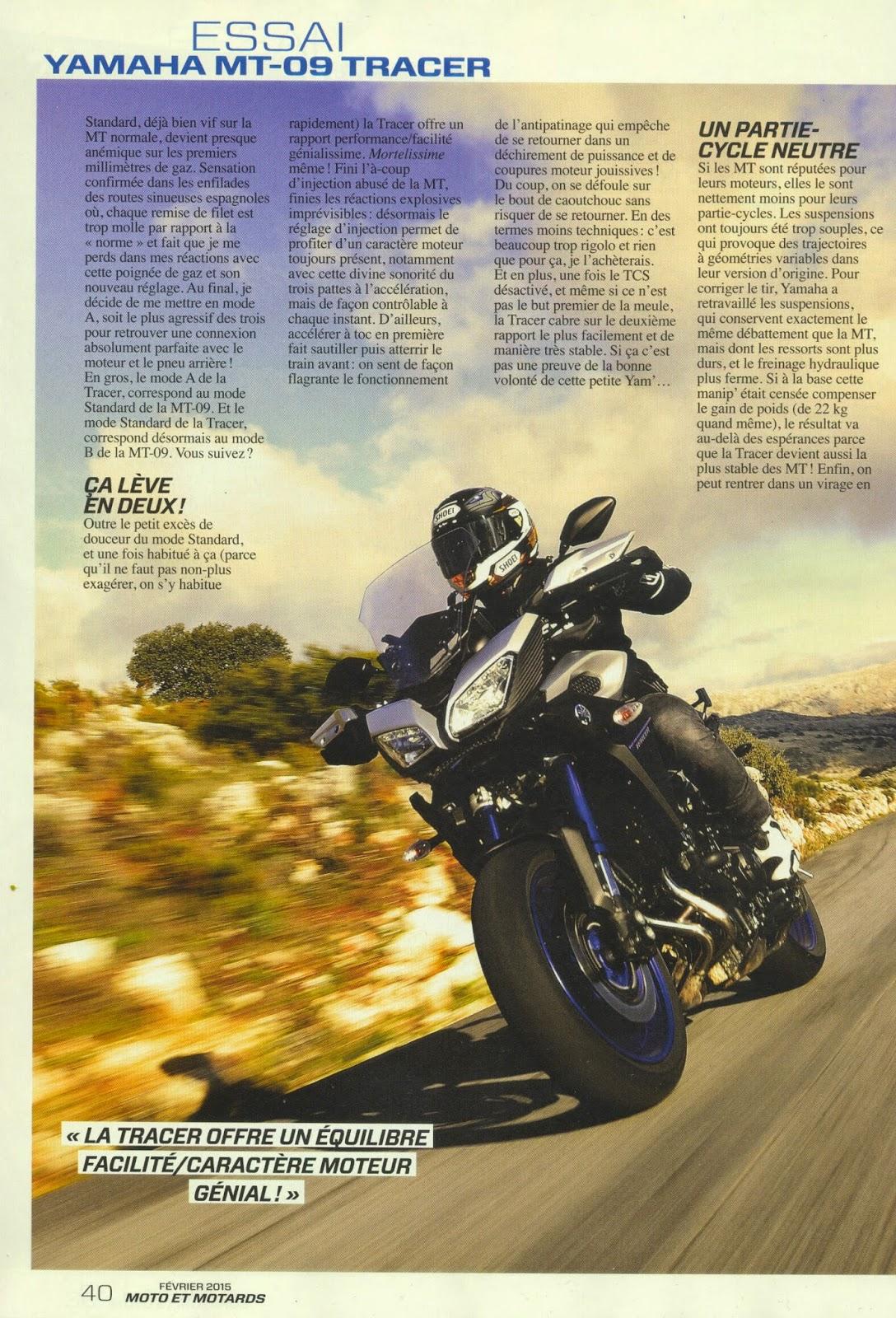 mt 09 tracer essai moto et motards. Black Bedroom Furniture Sets. Home Design Ideas