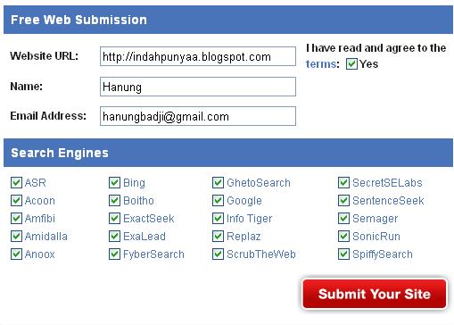 Cara Mendaftarkan Blog Ke 50 Search Enggine Sekaligus