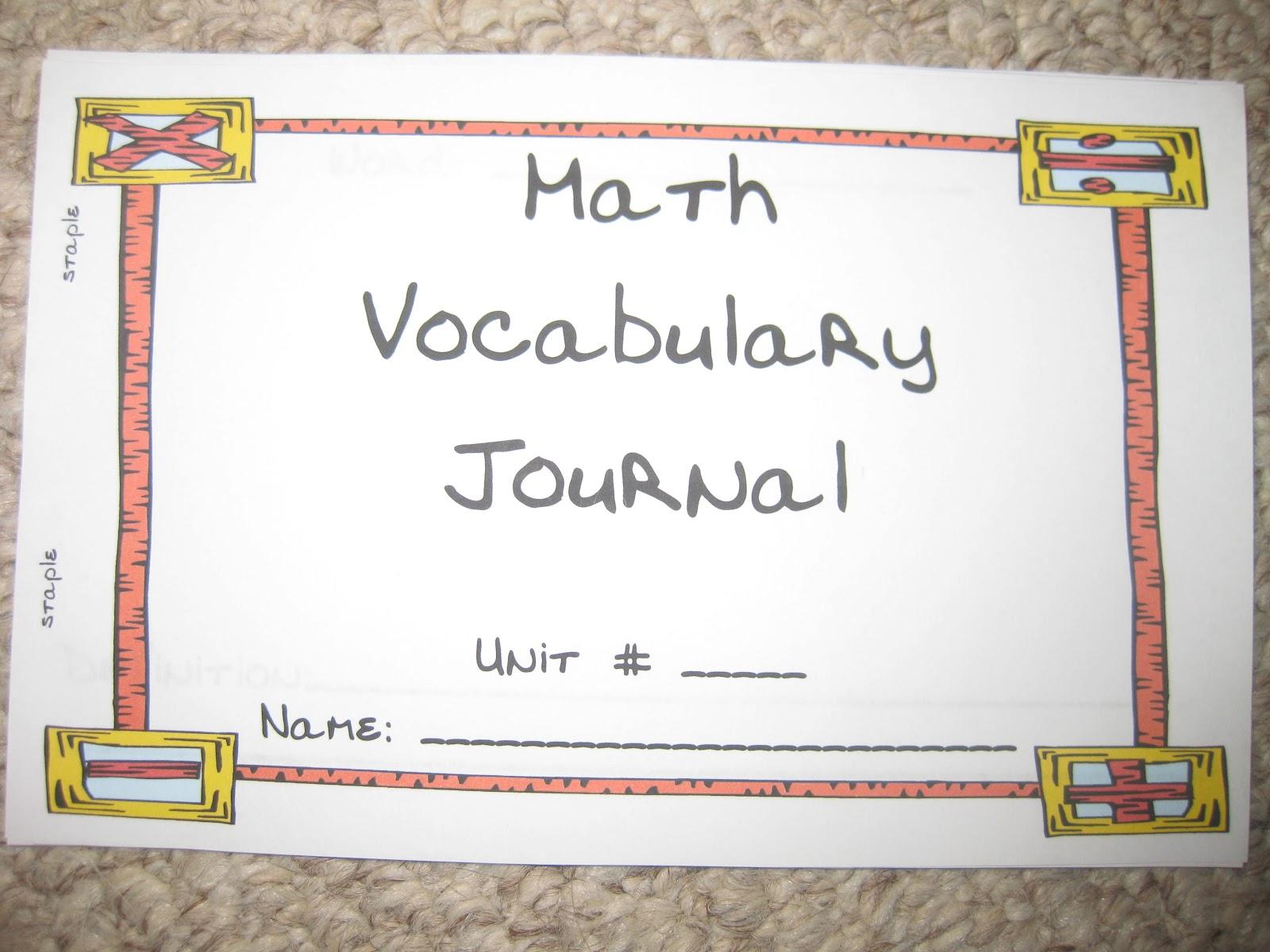 Guided Math: Math Vocabulary Flip Journal Freebie