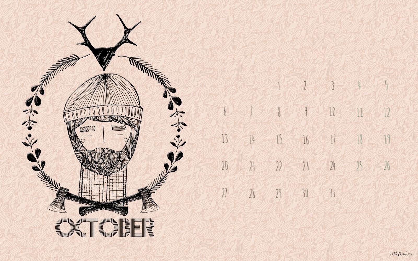 Calendario de octubre descargable