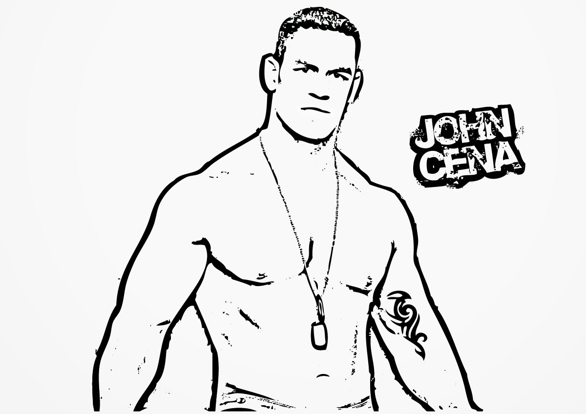 printable john cena coloring pages - photo#7