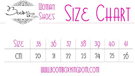 Size Chart Shoe Woman