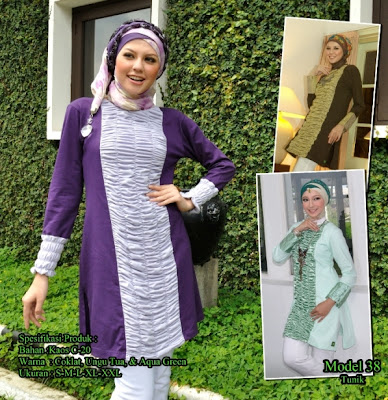 Katalog Busana Muslim Mazaya Coklat Ungu tua Aqua green