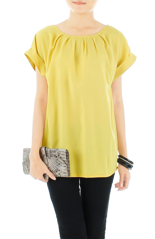 Yellow Let's Chill Blouse