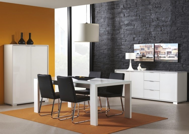 Comedores en color amarillo y gris colores en casa - Colores para un comedor ...