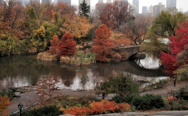Gapstow Bridge in Fall, Central Park, NYC 2013