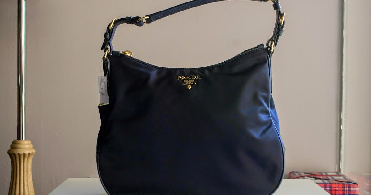 de1e9a216c54 Prada BR4987 Tessuto Nylon Hobo Bag-Bleu