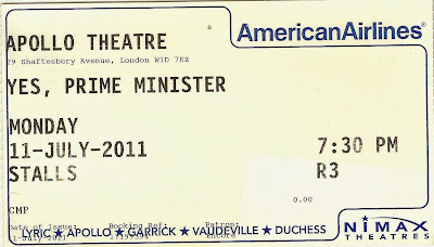 Yes, Prime Minister  Apollo Theatre ticket