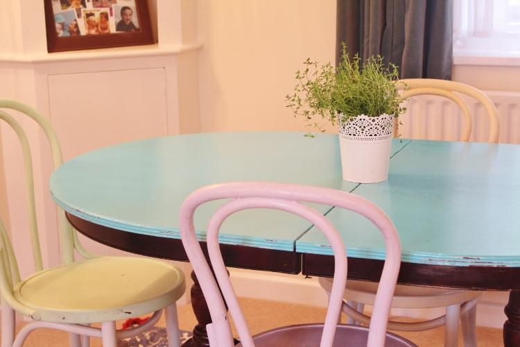 Tutorial como pintar una mesa de uso diario soy un mix - Mesas pintadas a la tiza ...