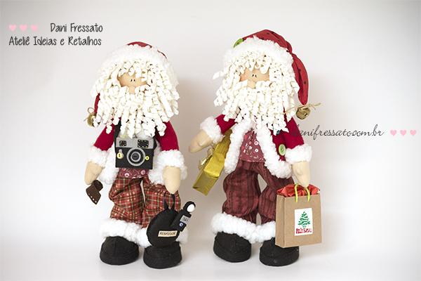 Papai Noel - Ideias e Retalhos por Dani Fressato