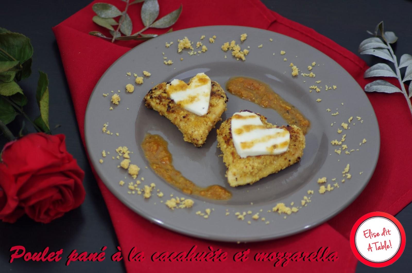 Poulet pané à la cacahuète mozzarella