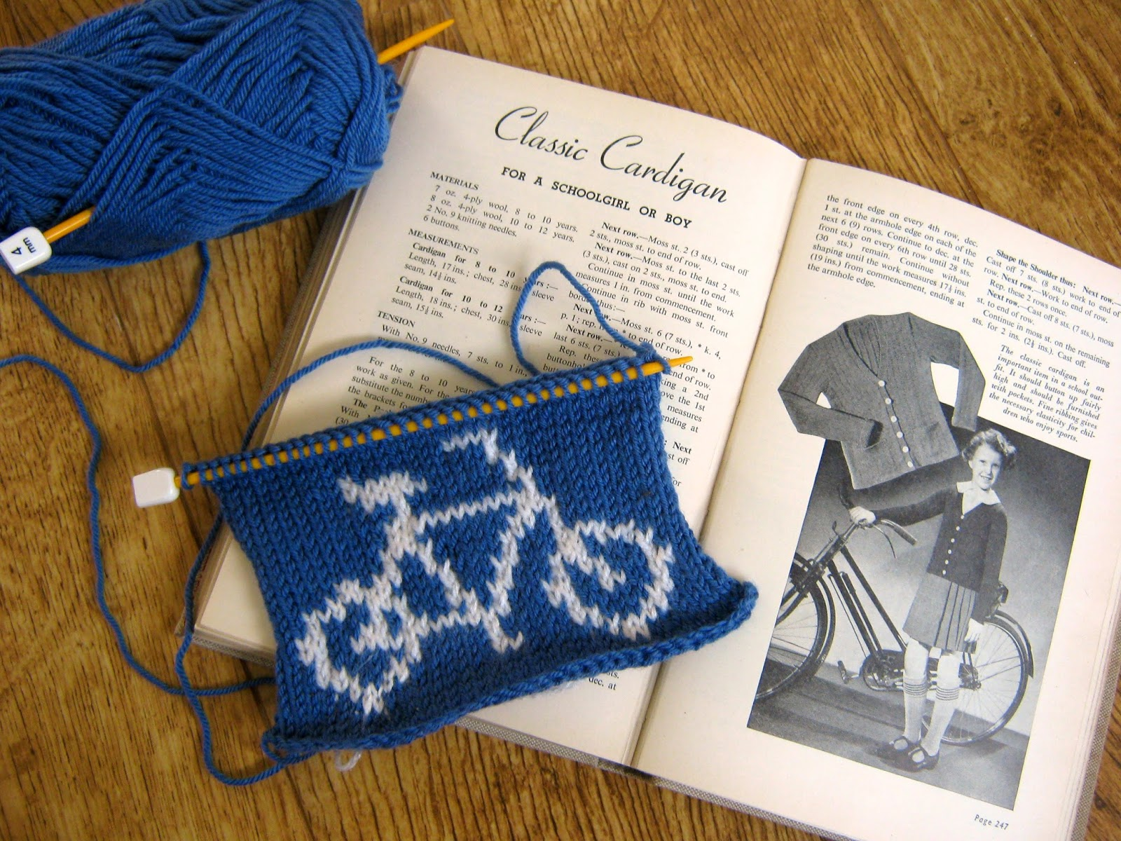Bicycle Knitting Chart
