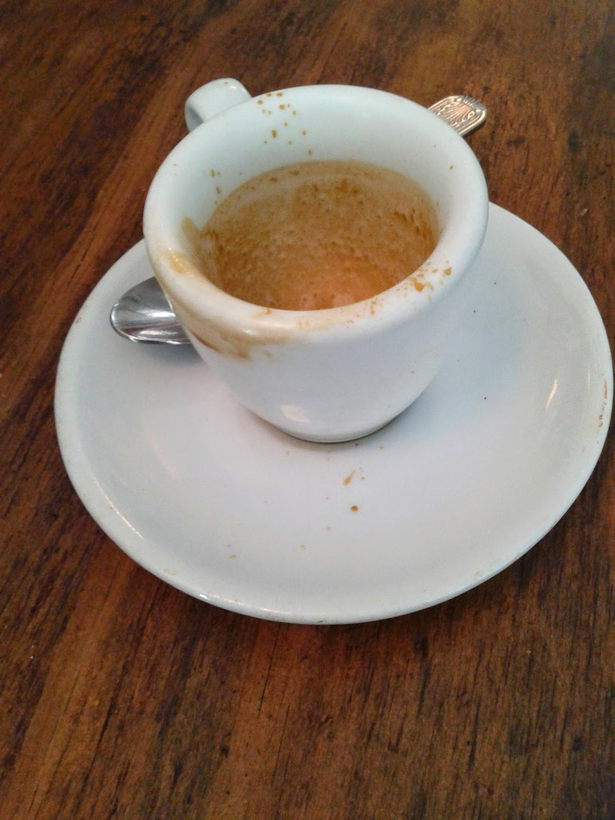 Stock photo: Little espresso cup dirty and empty