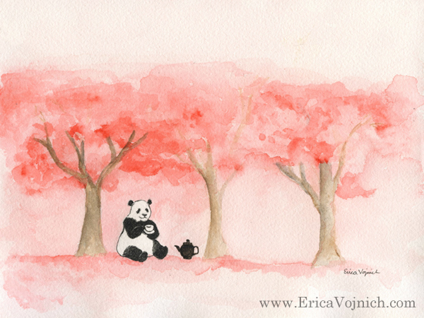 Panda Cherry Blossoms