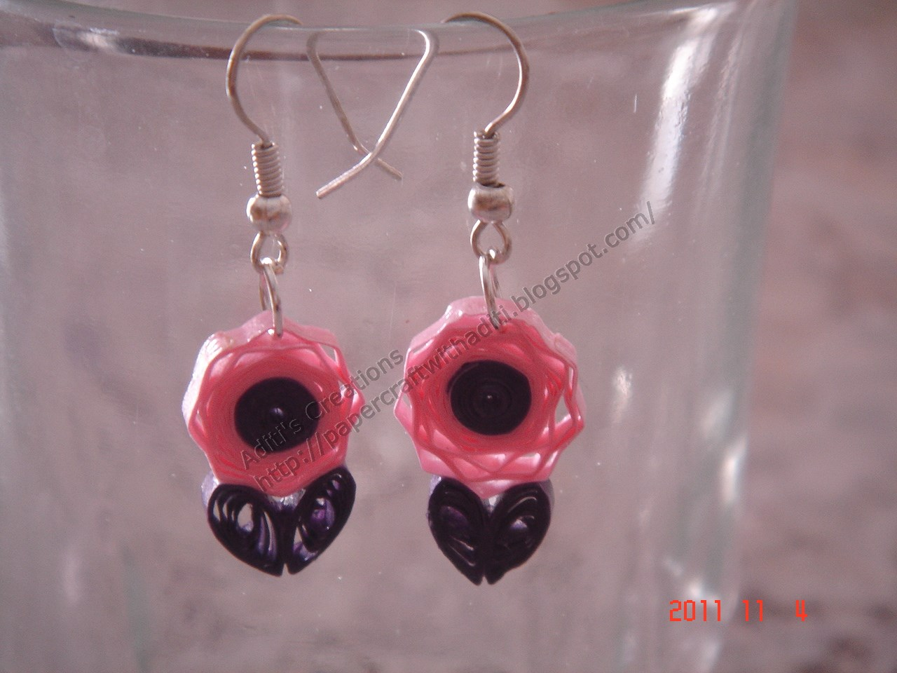Quilling Earrings Designs Images : PaperCraftwithAditi: Quilled Earrings!