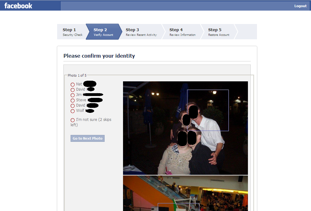 how to avoid confirm identity on facebook