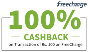 Freecharge 100 Cashback Coupon