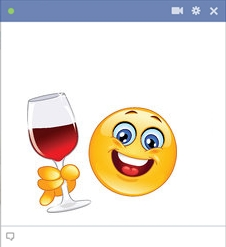 Glass of wine symbol