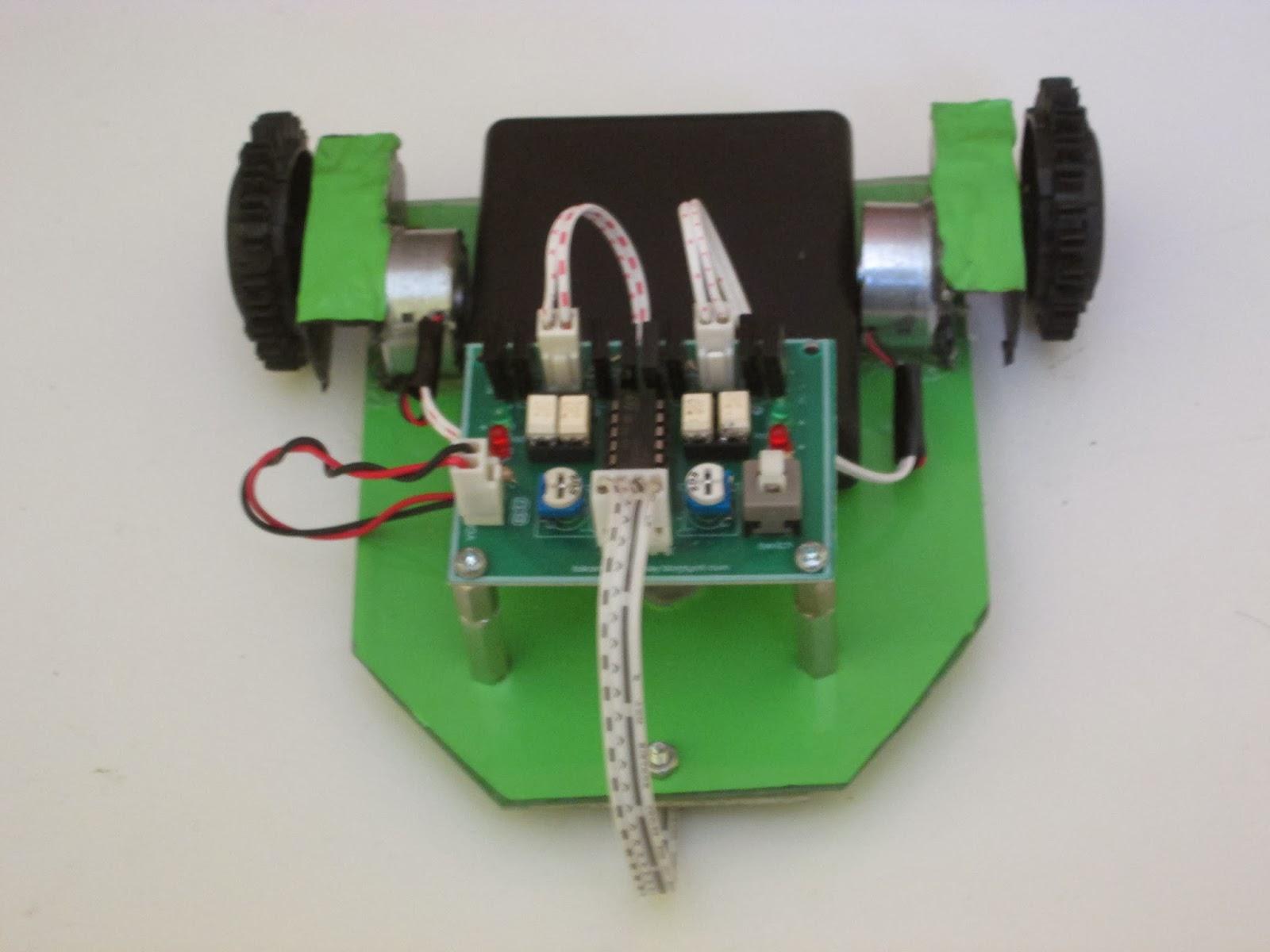 Robot line follower, robot line tracer. Robot Edukasi, Robot analog sederhana, http://toko-robot.blogspot.com/