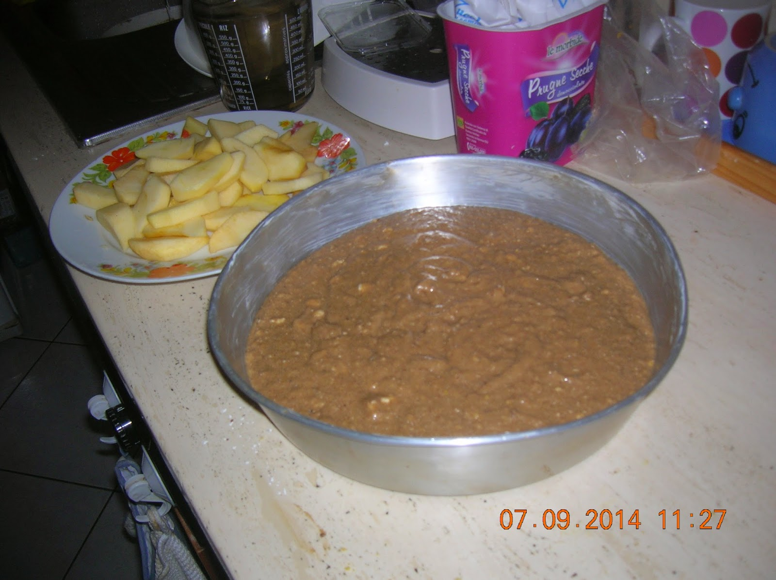 la torta  di marylen---con ricotta -orzoro e cioccolato fondente