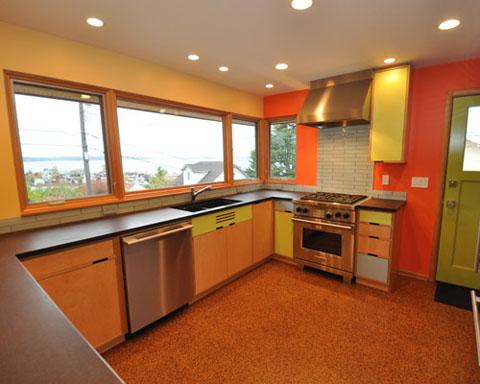 desain dapur minimalis dengan posisi jendela untuk