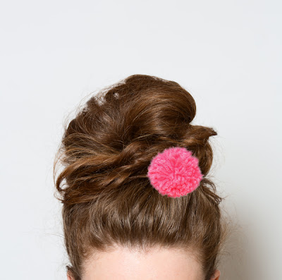 pom poms, top knot, hair, Babasuk
