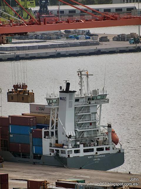 fotos de barcos, imagenes de barcos, wec vermeer, wec lines, contenedores, guixar, vigo