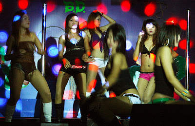 go-go dancing in a Phuket nightclub