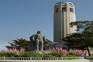 coit-tower-columbus-statue