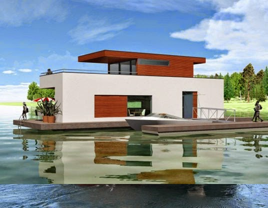 desain floating house