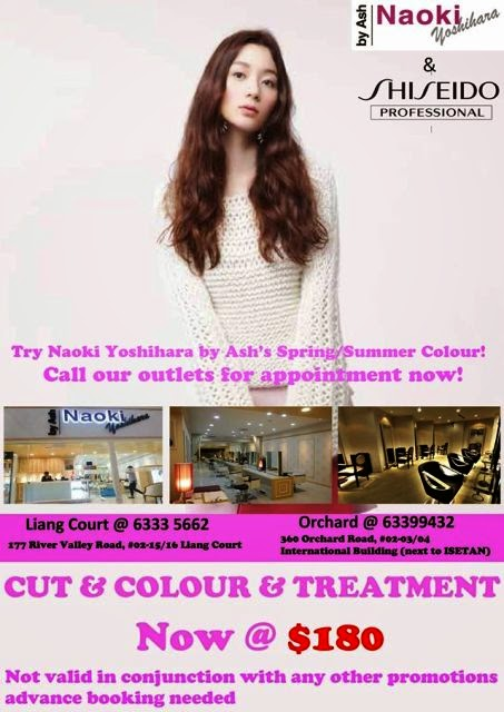 naoki yoshihara by ash hair salon promotion